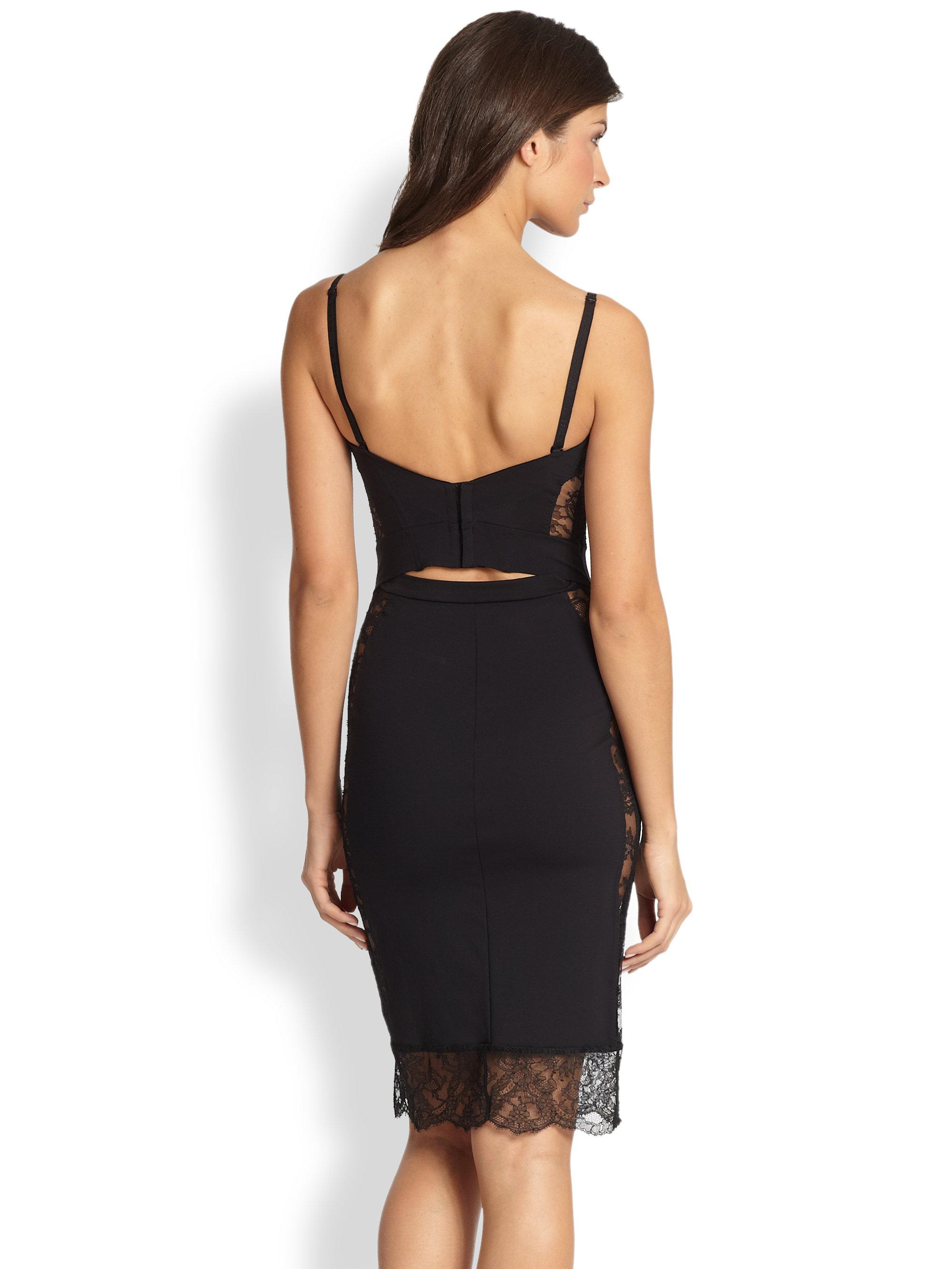 la perla shape allure convertible slip dress in black lyst. Black Bedroom Furniture Sets. Home Design Ideas