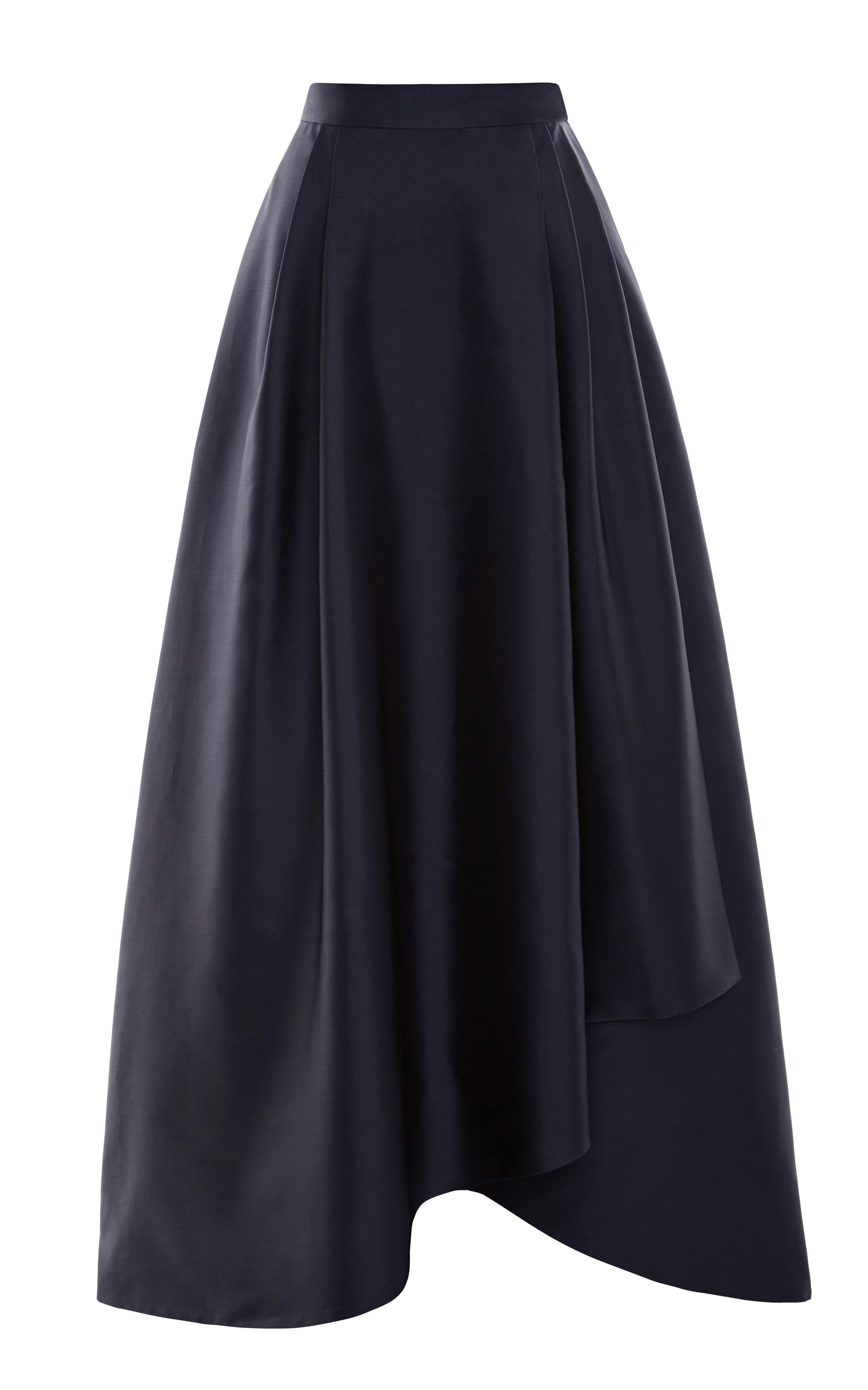 Lyst Alberta Ferretti Duchess Satin Ball Skirt In Blue
