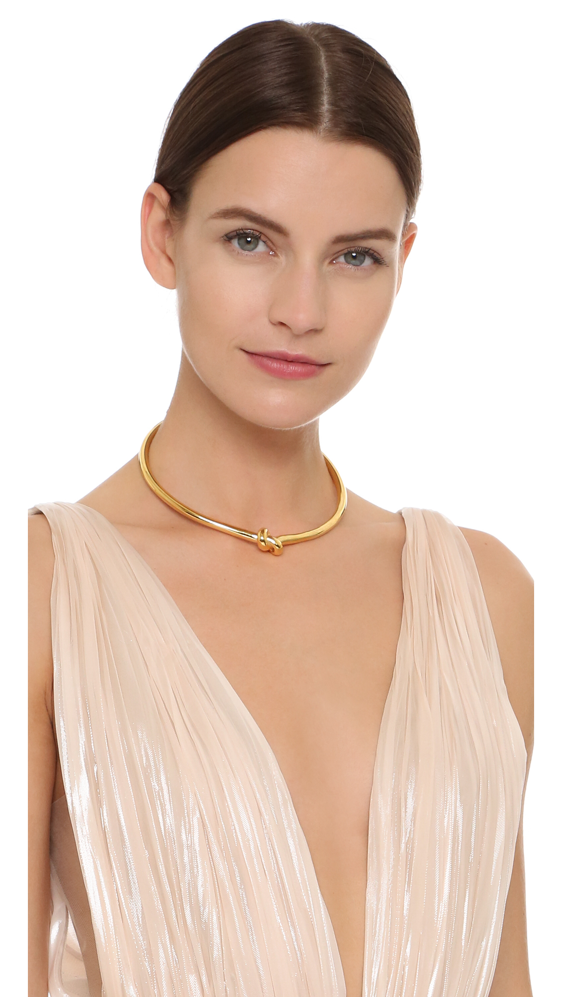 Amber Sceats Tie The Knot Choker Necklace in Gold (Metallic)