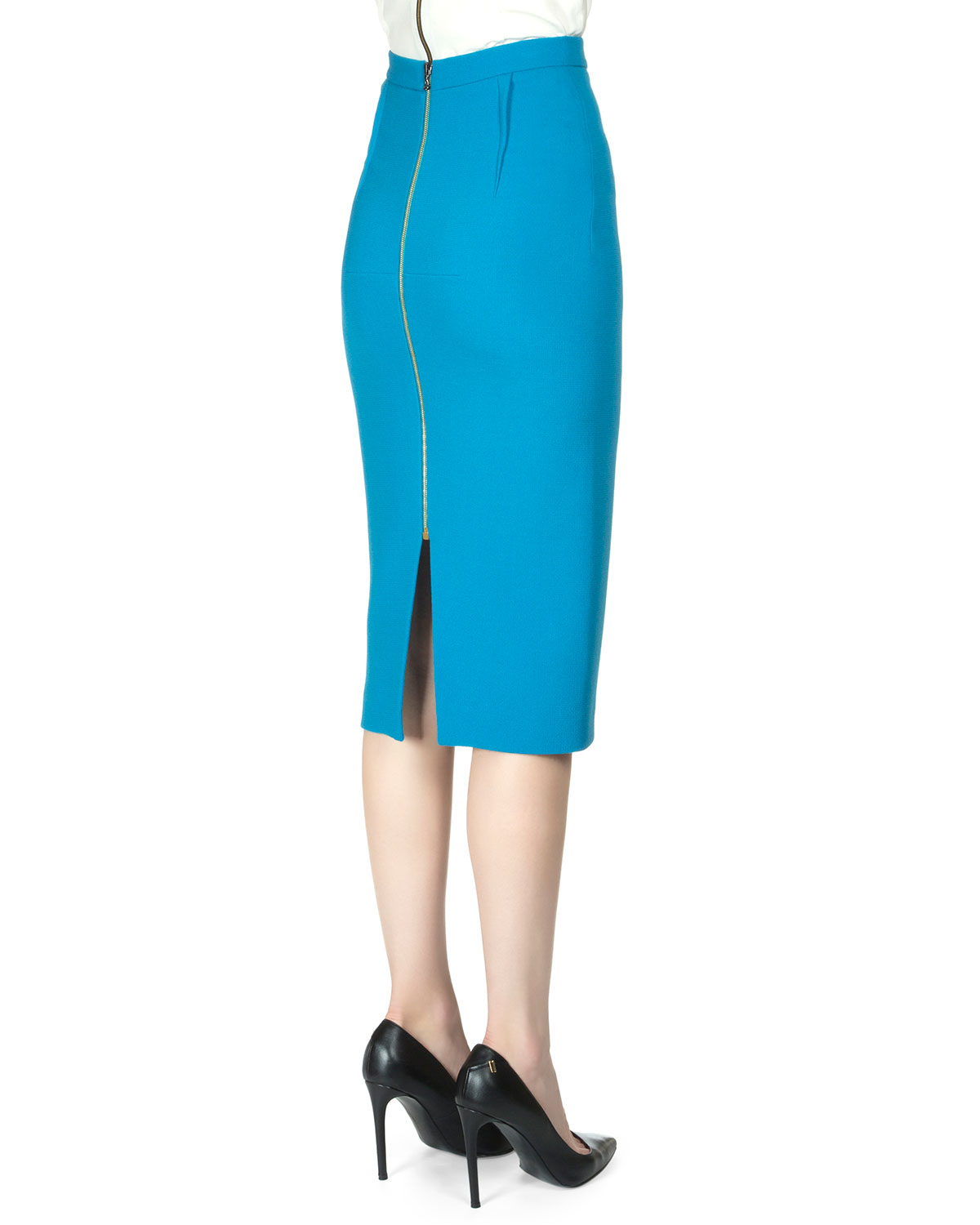 03fba152e Roland Mouret Arreton Wool Crepe Pencil Skirt in Blue - Lyst