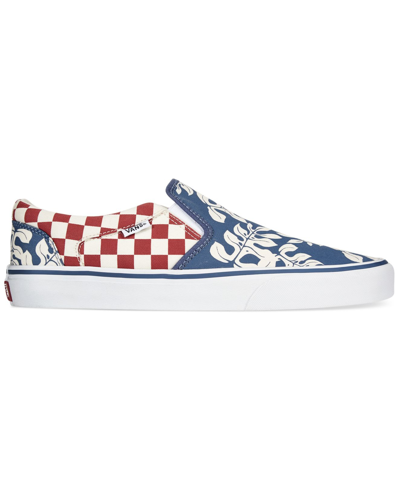 838a5d57c1141a Lyst - Vans Asher Slip-On Sneakers in Blue for Men