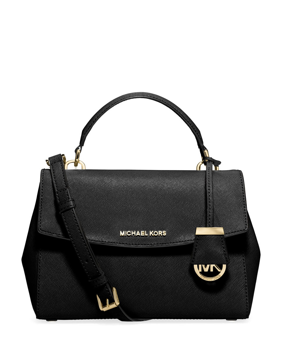 michael michael kors ava small saffiano leather satchel in. Black Bedroom Furniture Sets. Home Design Ideas