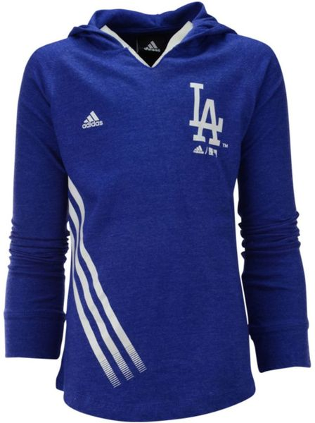 Los Angeles Dodgers Majestic MLB Team Property Colorblock Hoodie