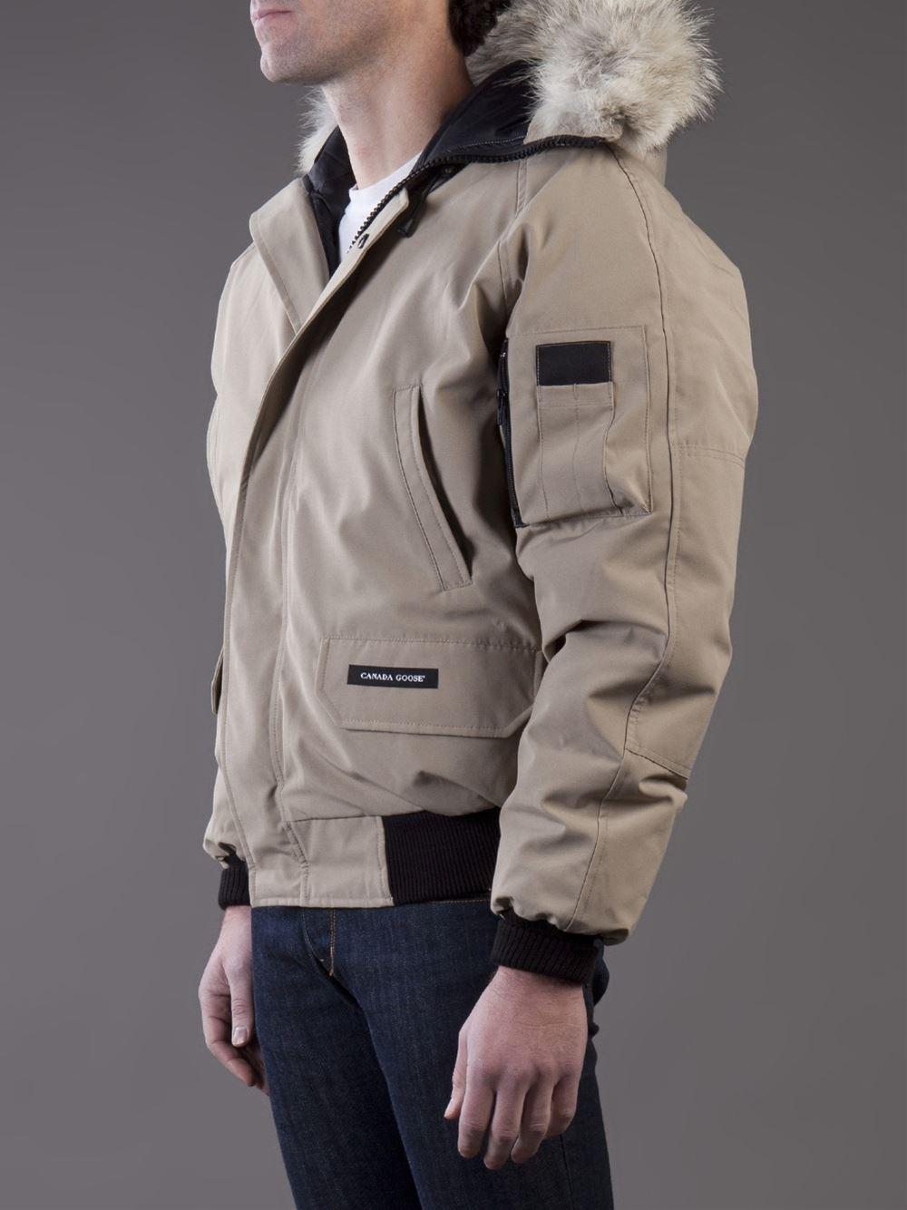 canada goose bomber jacket beige