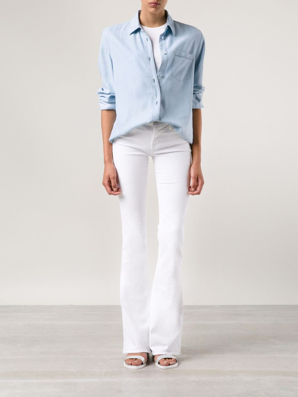 J brand 'Martini' Flare Jeans in White | Lyst