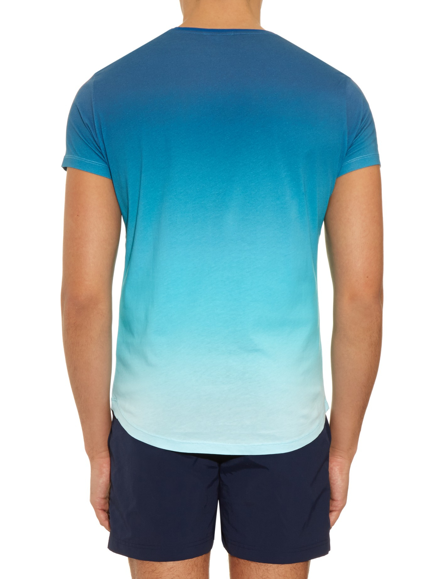 orlebar brown ob t ombr jersey t shirt in blue for men lyst