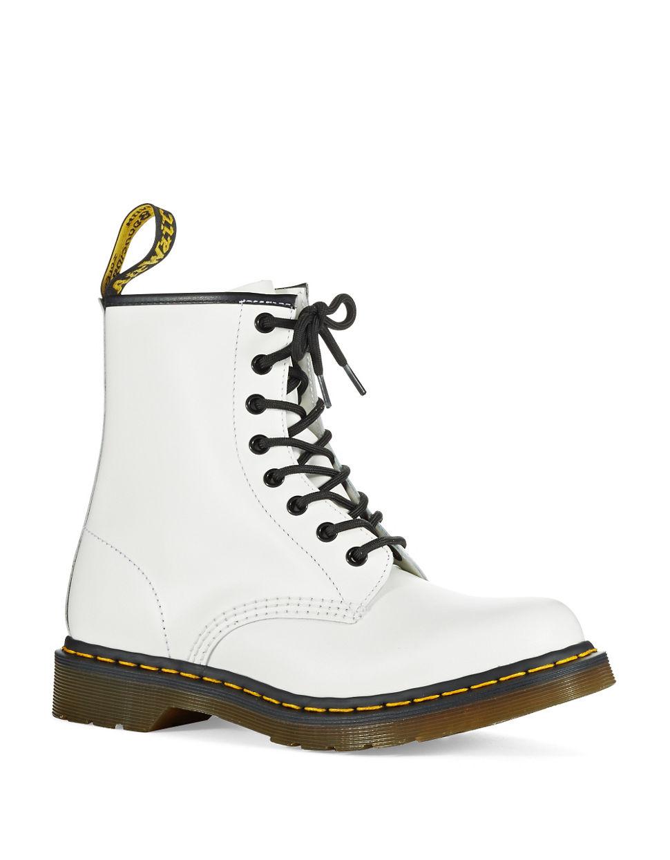 dr martens original dr martens boots in white lyst. Black Bedroom Furniture Sets. Home Design Ideas