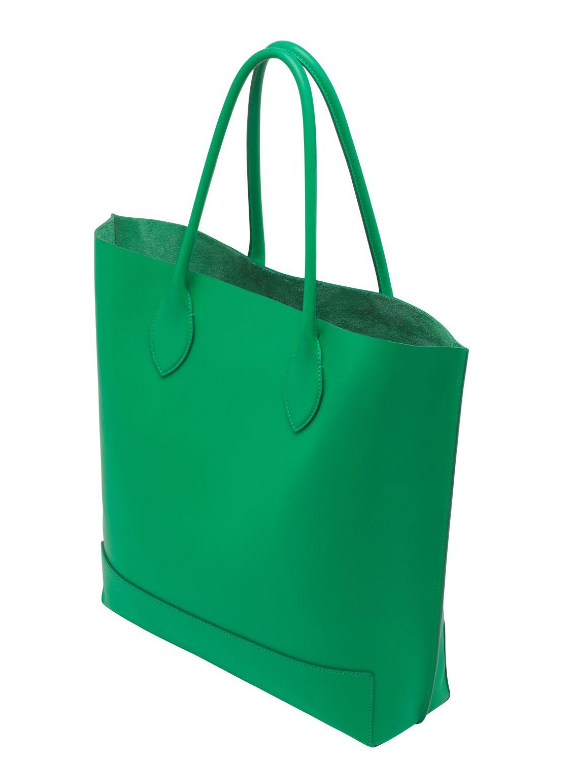 423ed56375 ... australia mulberry blossom nappa leather tote bag in green lyst e1fc2  be6c0