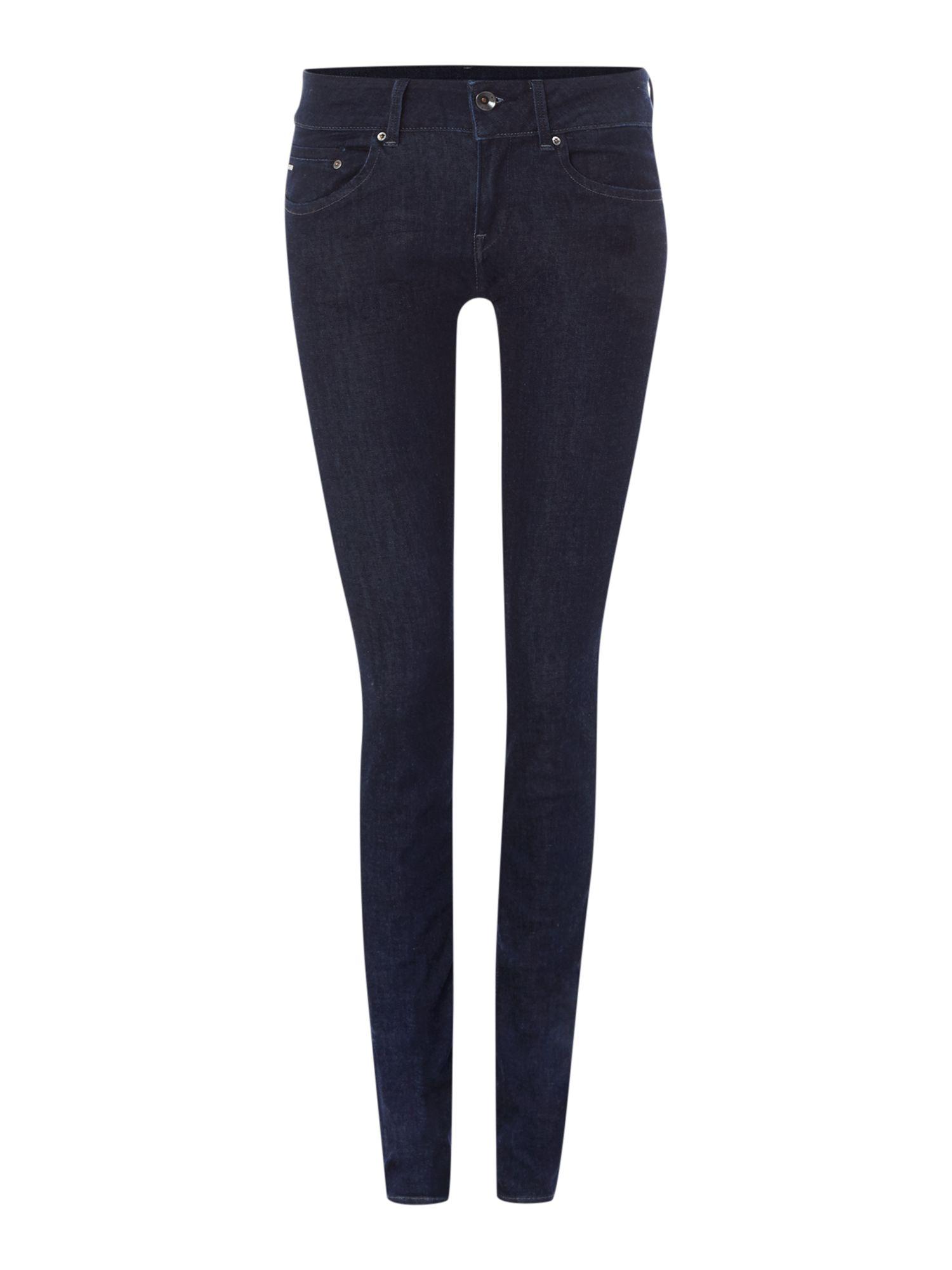 star raw midge cody skinny jean in rinsed in blue denim dark indigo. Black Bedroom Furniture Sets. Home Design Ideas