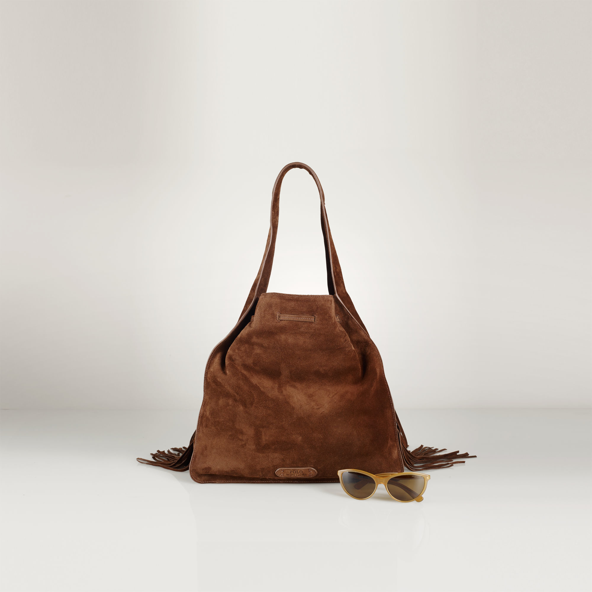 Polo Ralph Lauren Fringed Suede Sling Bag in Brown - Lyst 8f86d758cc5f1