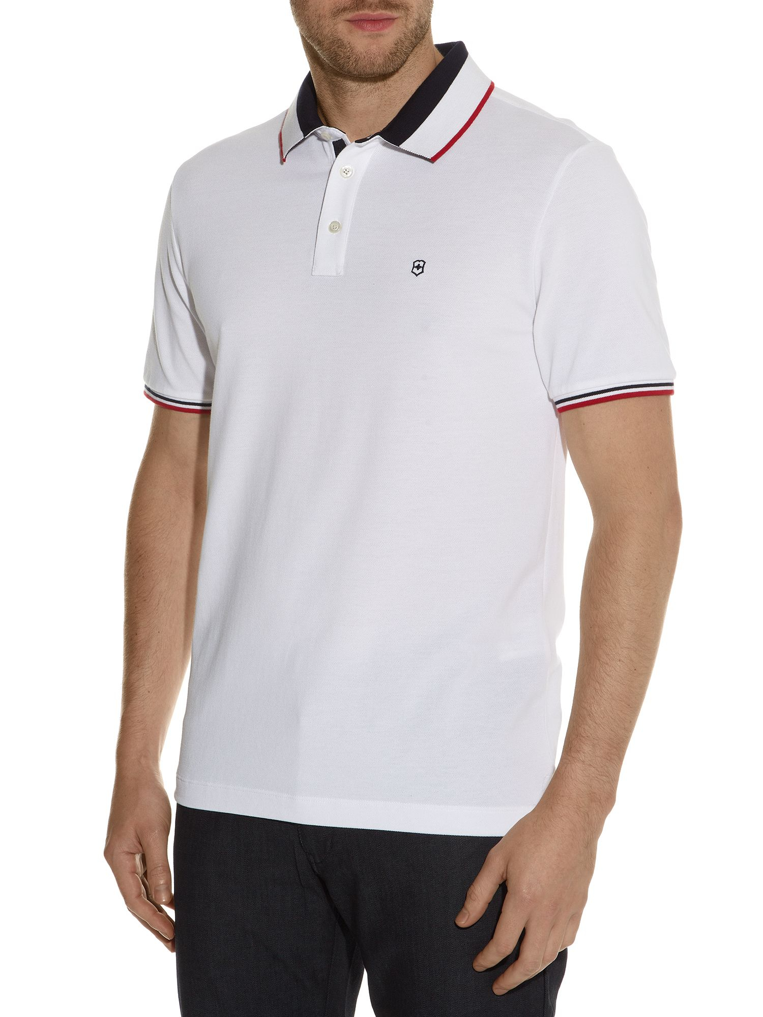 Victorinox Ascent Regular Fit Polo Shirt in White for Men