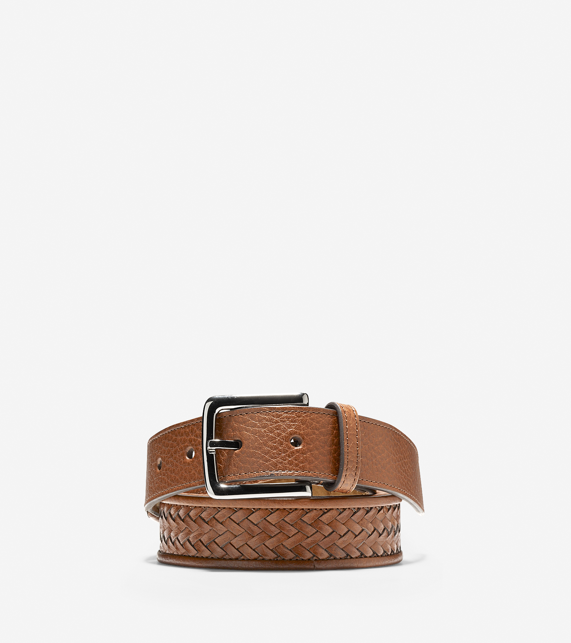 cole haan 32mm santa croce leather belt in brown for