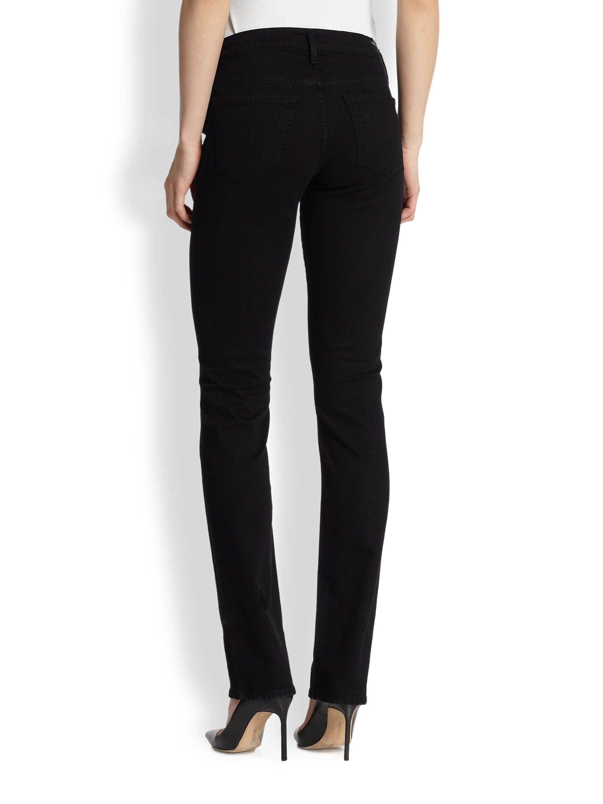 Citizens of humanity Ava Straight-Leg Maternity Jeans in Black | Lyst