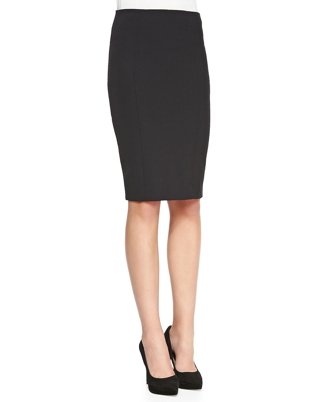beard zip back pencil skirt in black lyst