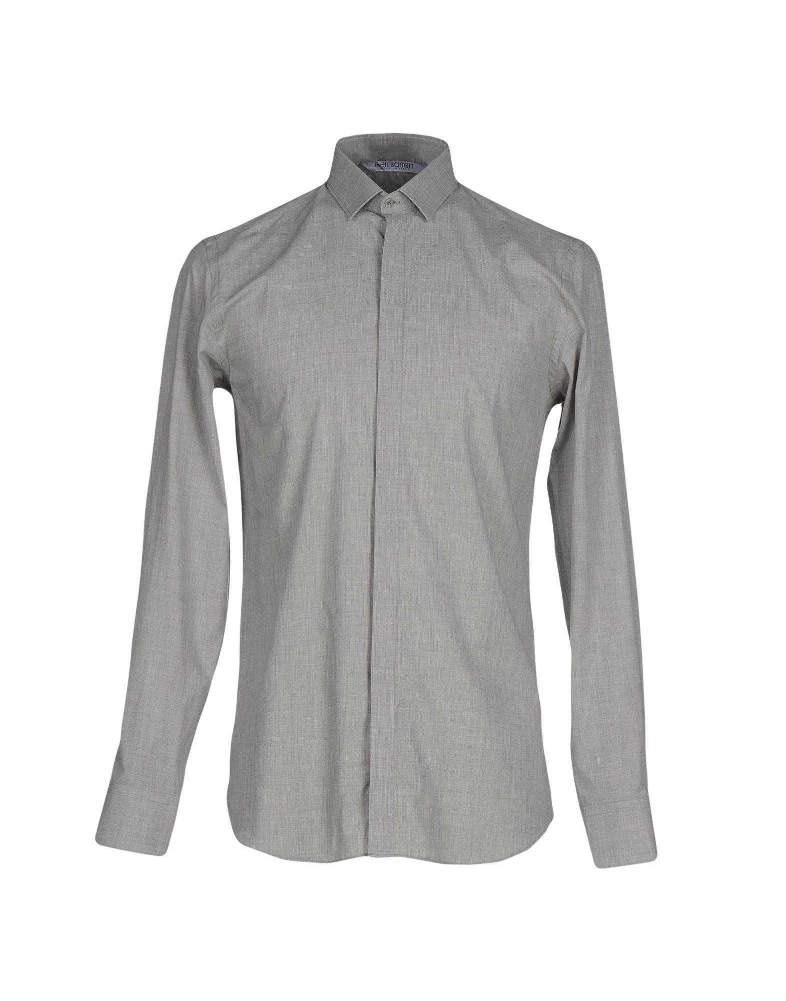 Lyst neil barrett shirt in gray for men for Neil barrett tuxedo shirt