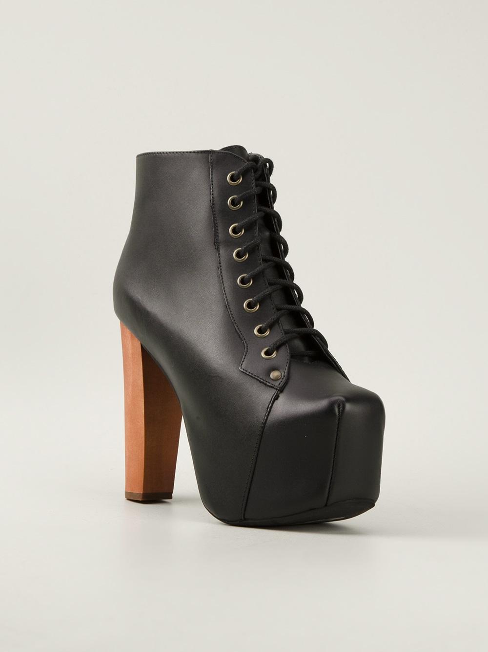 Jeffrey campbell lita platform pumps in black lyst - Jeffrey campbell lita platform boots ...