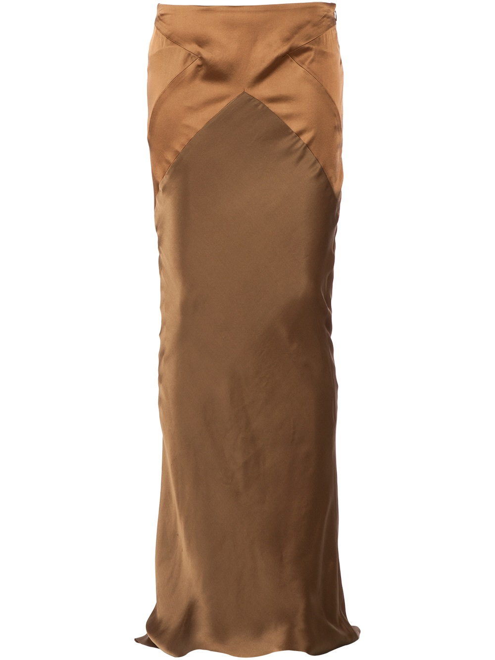haider ackermann maxi pencil skirt in brown lyst