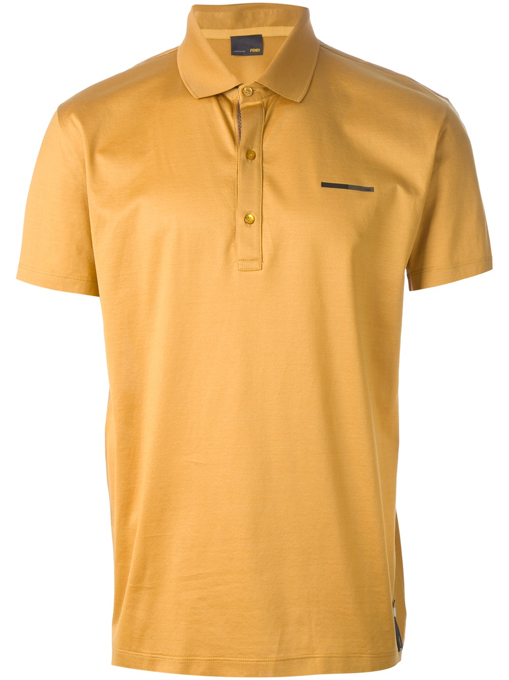 Lyst fendi short sleeve polo shirt in yellow for men for Man in polo shirt