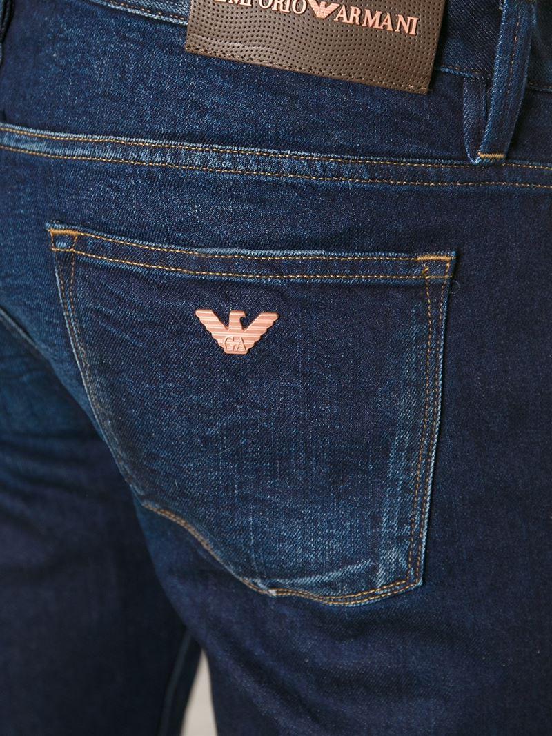 efcf19433 Emporio Armani Blue Slim Fit Jeans for men
