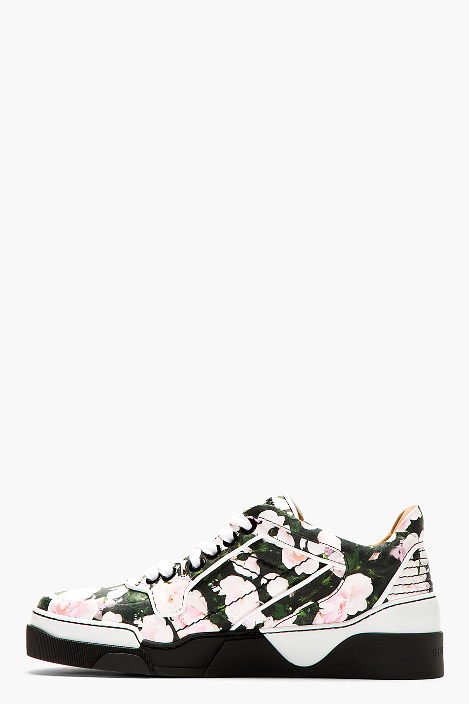 Lyst Givenchy Black And Pink Floral Print Tyson Sneakers In Pink