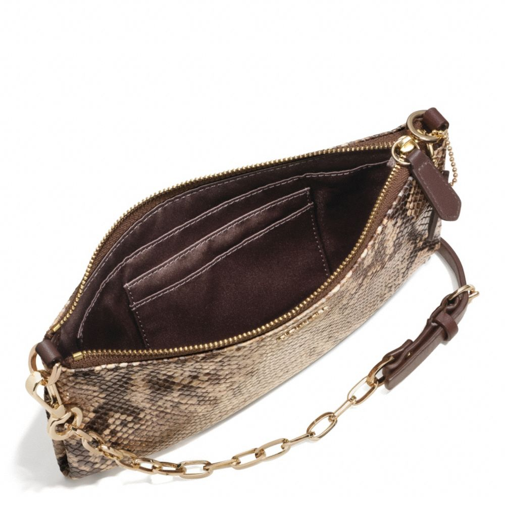 8ba55c40c6a99 COACH Madison Kylie Crossbody in Python Embossed Leather in Brown - Lyst