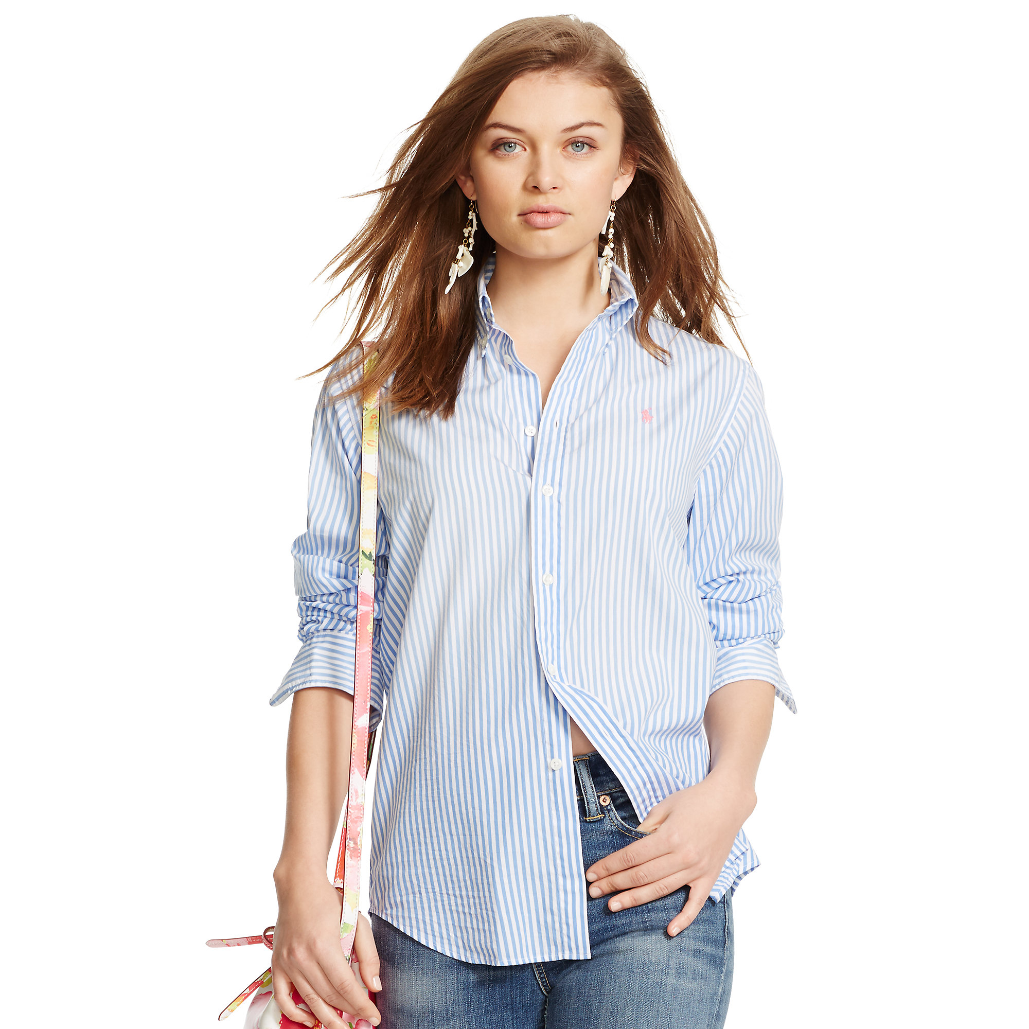Lyst Polo Ralph Lauren Relaxed Fit Striped Shirt In Blue
