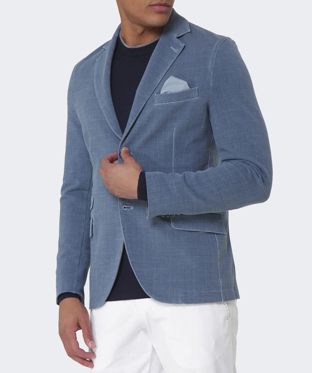 Lyst Circolo 1901 Unstructured Stretch Cotton Jacket In