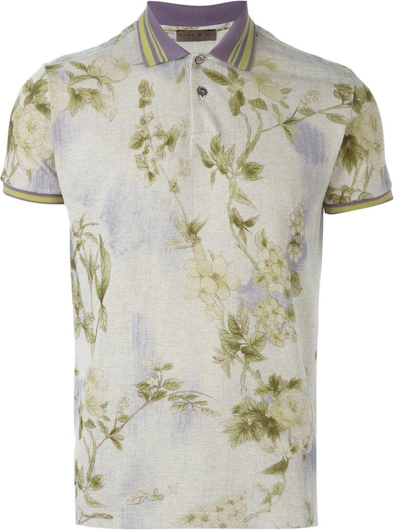 0b2c1af33047b0 Lyst - Etro Floral Print Polo Shirt for Men