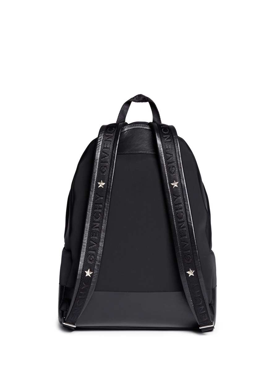Givenchy Star Leather Neoprene Backpack in Black for Men