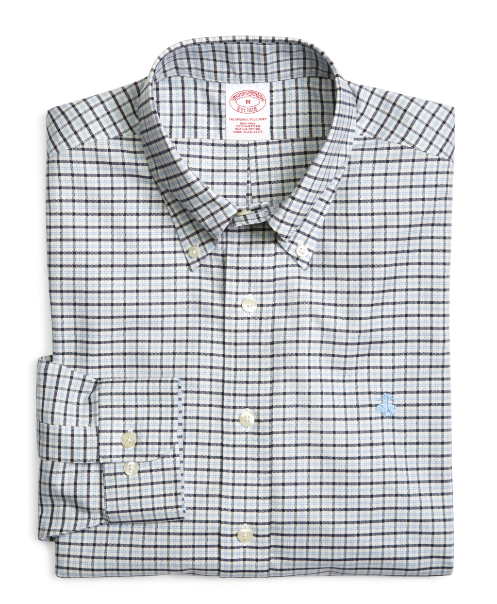 Brooks brothers supima cotton noniron regular fit Brooks brothers shirt size guide