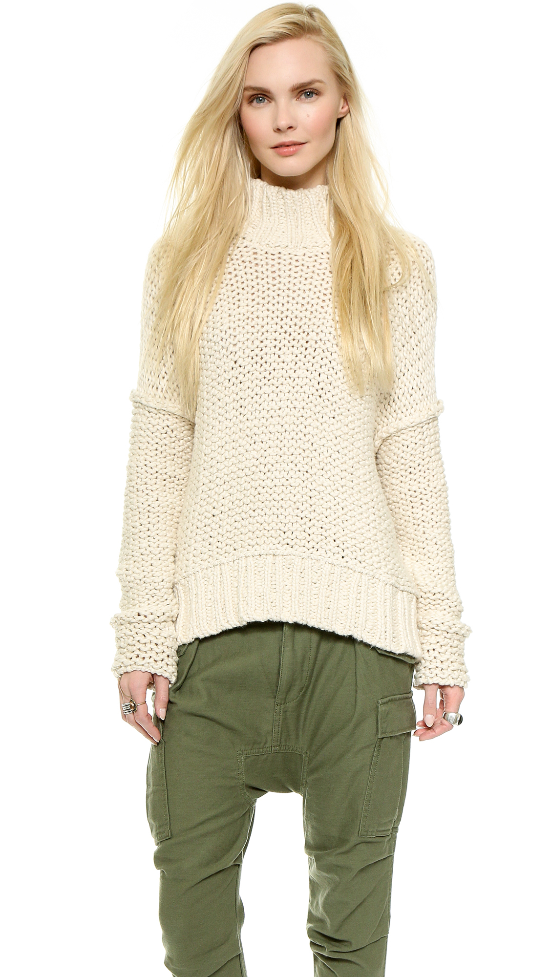 Free people Long Summer Pullover Sweater - Deep Navy in Natural | Lyst