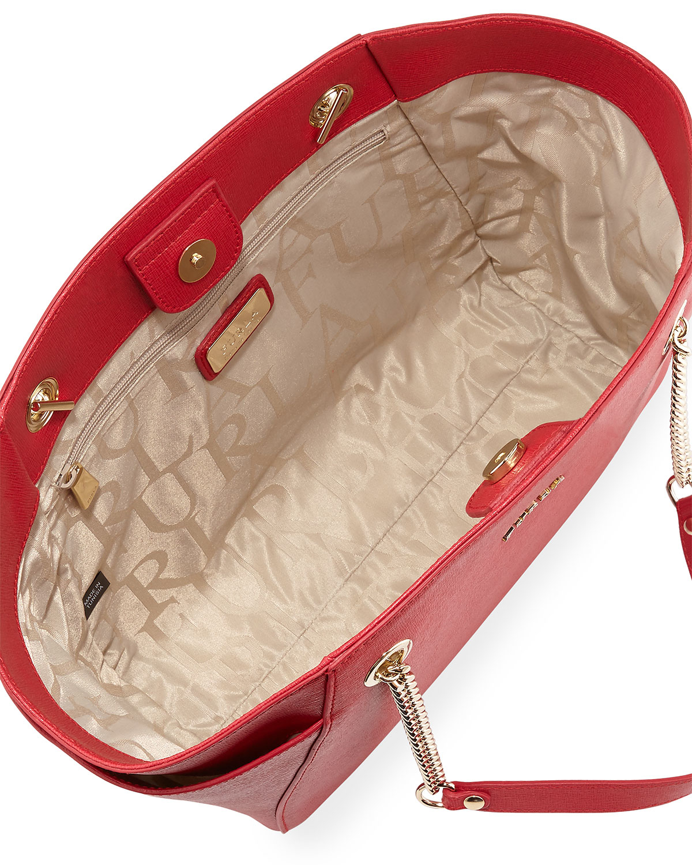Lyst - Furla Julia Medium Leather Tote Bag in Red c4979b3cdaddb
