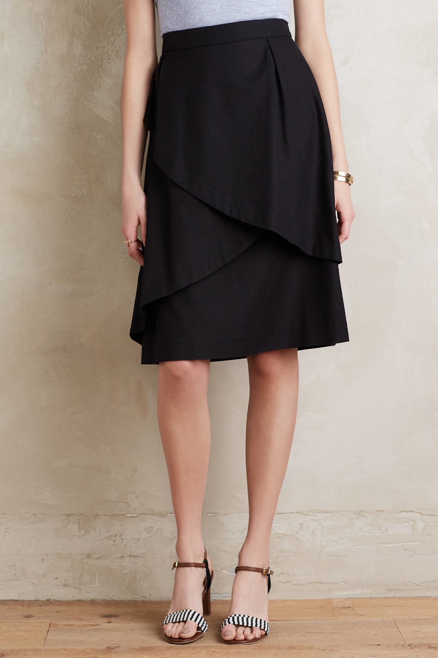 Maeve Origami Skirt in Black | Lyst - photo#42