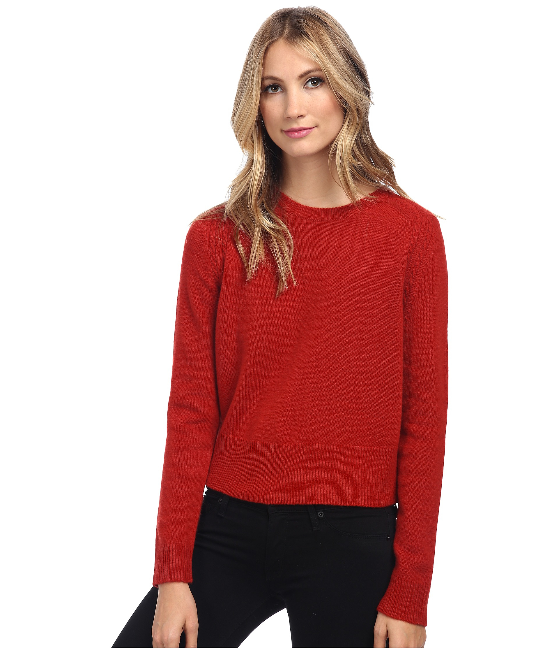 marc by marc jacobs iris sweater in red lyst. Black Bedroom Furniture Sets. Home Design Ideas
