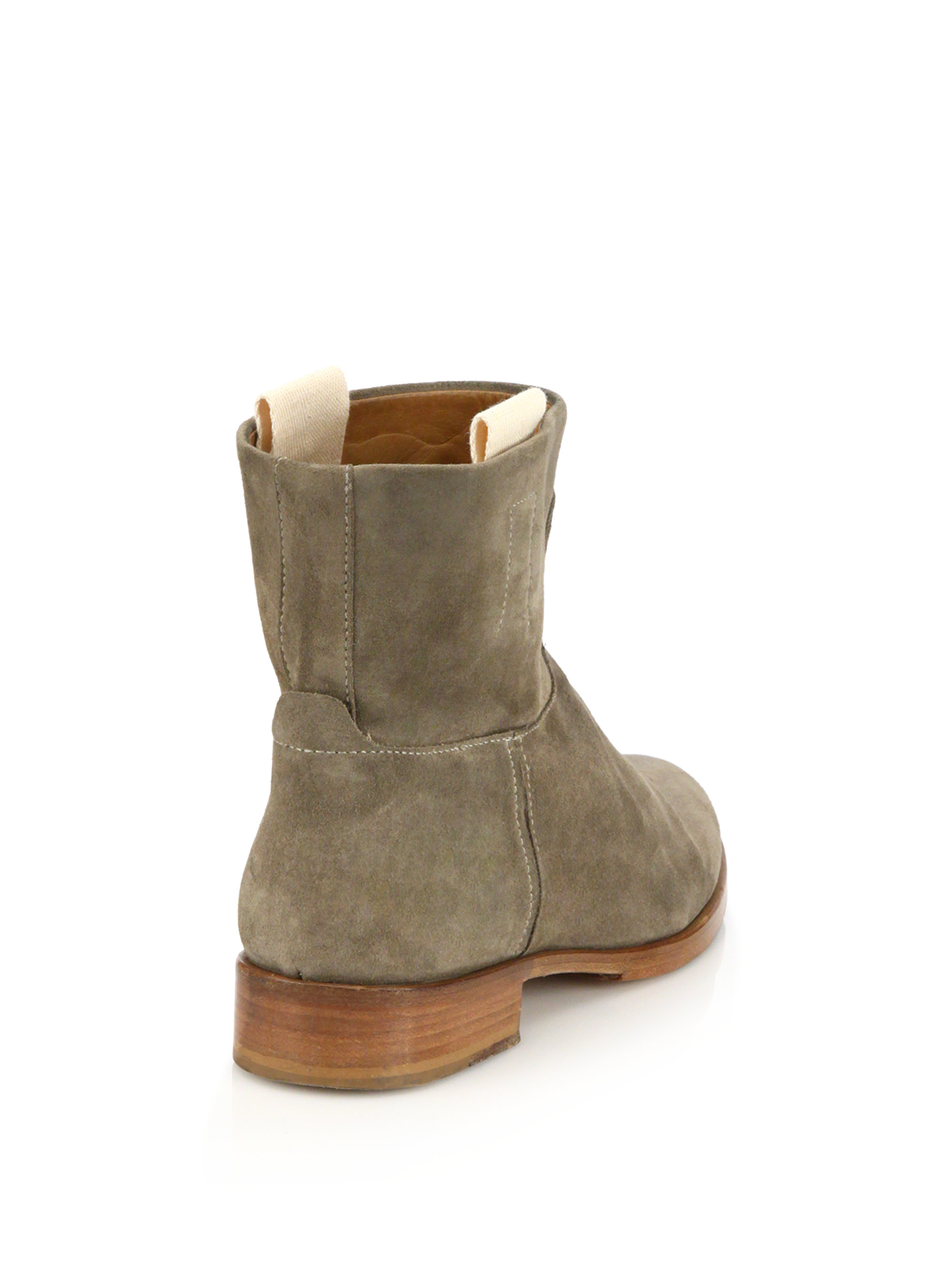 rag bone suede ankle boots in gray lyst