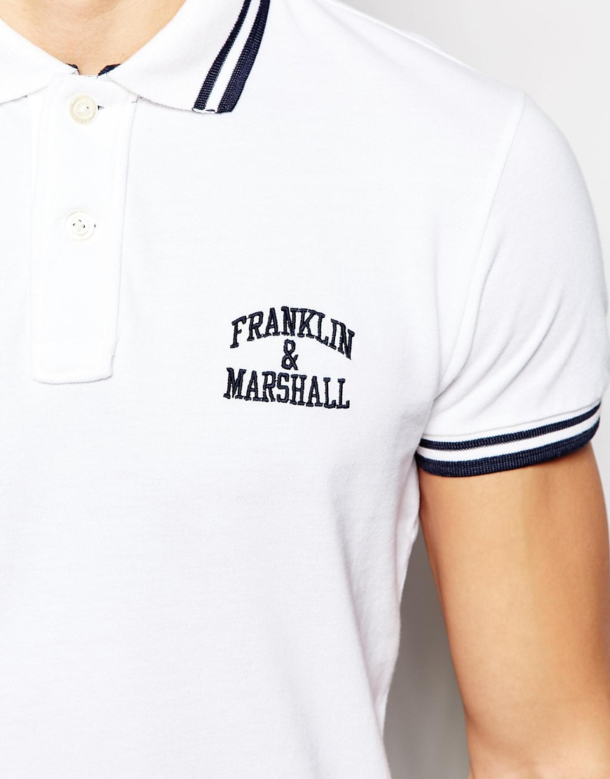 Lyst Franklin Marshall Pique Polo Shirt With Tipping