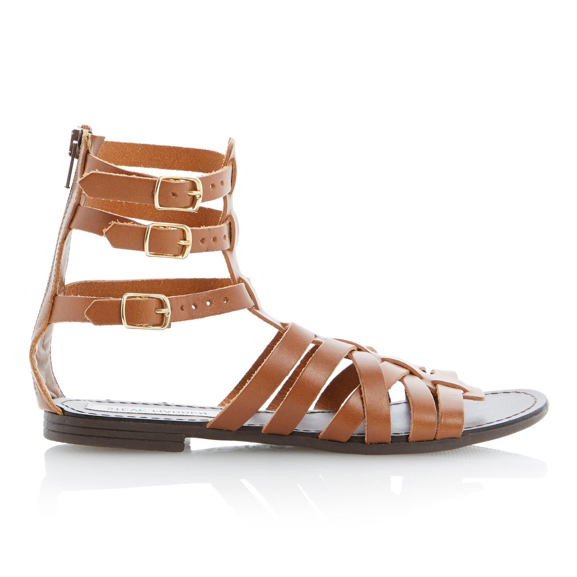 Triple buckle sandal flats shoejob 2