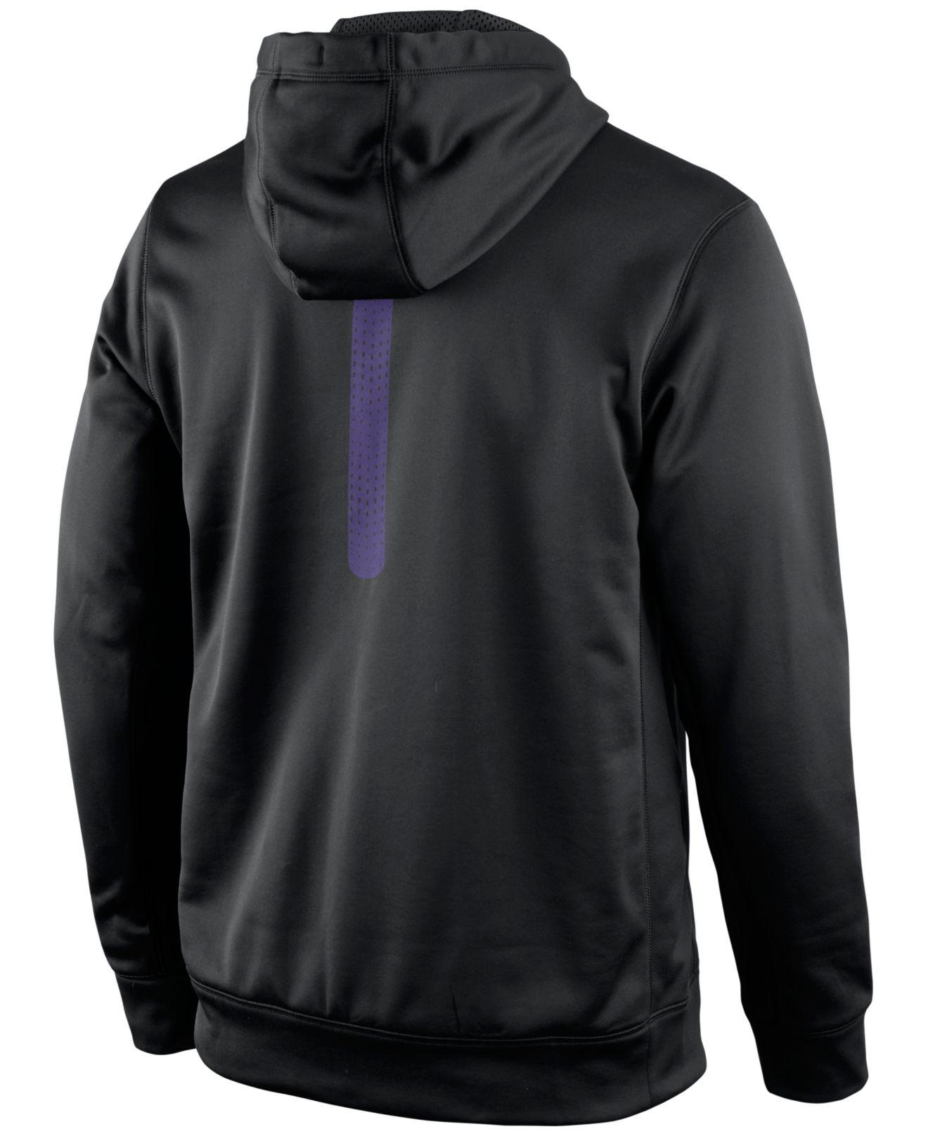 Nike Men's Washington Huskies Sideline Ko Hoodie in Black ...