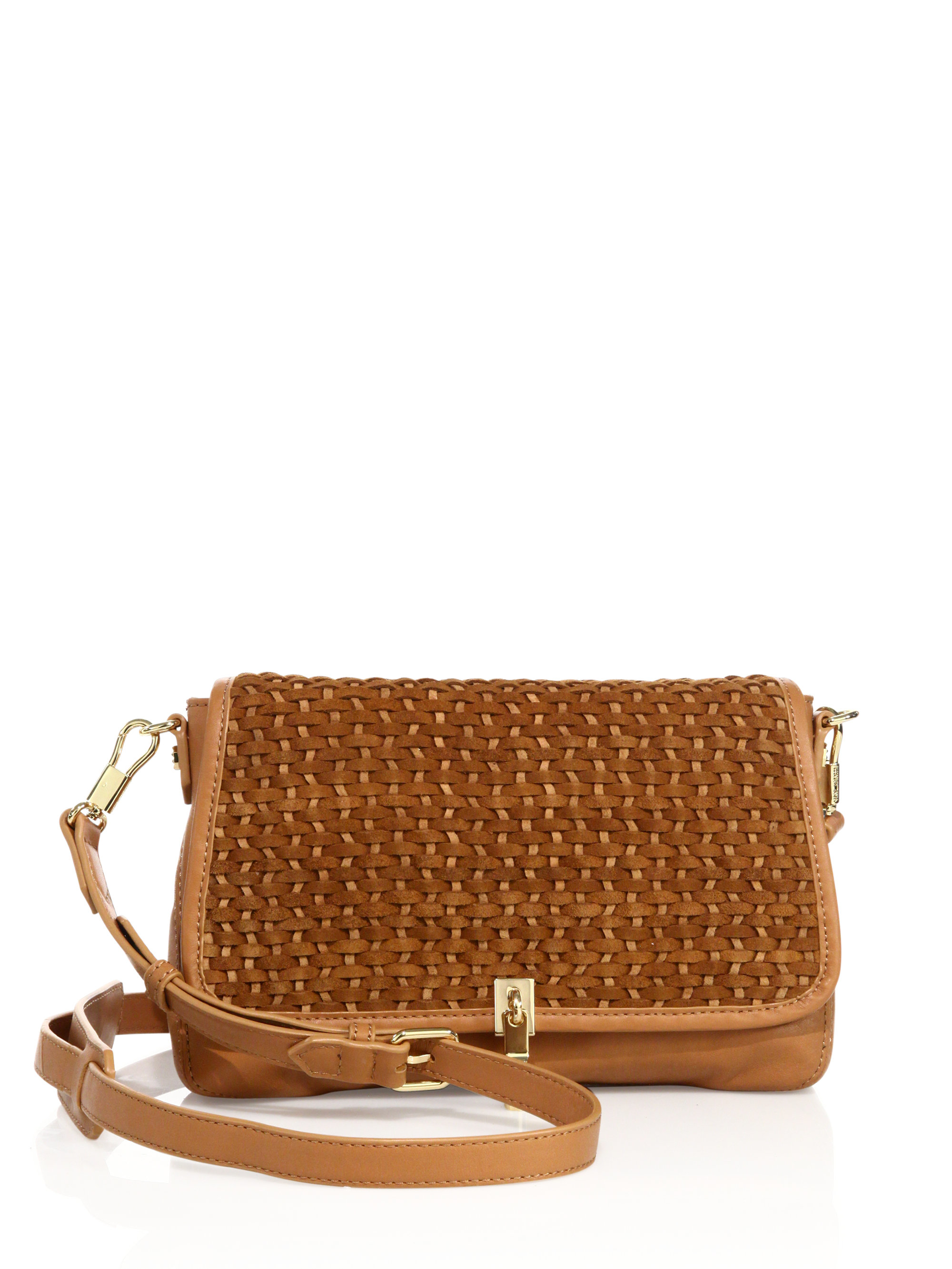 Leather Woven Crossbody Bag 16