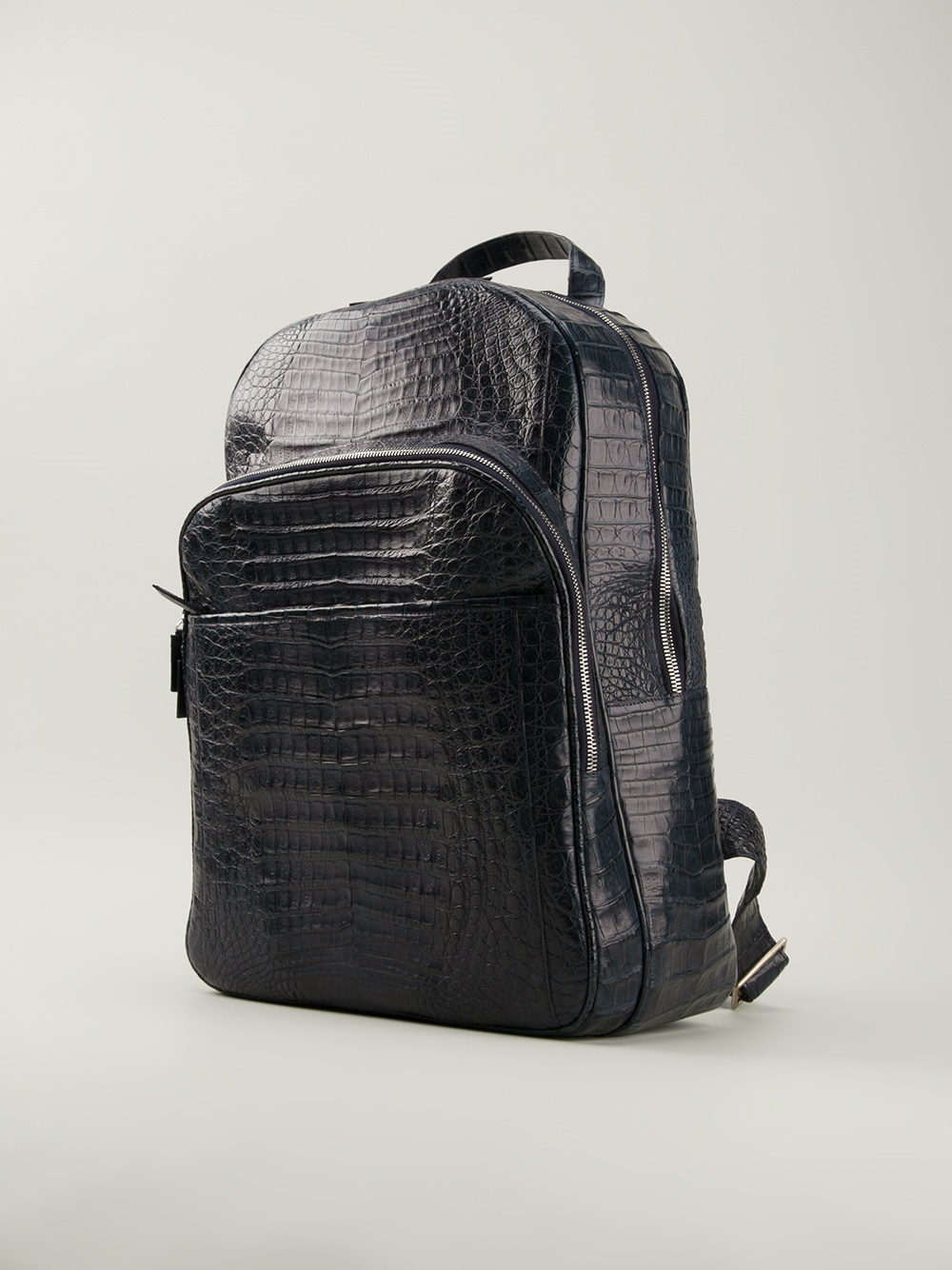 Nancy Gonzalez Crocodile Leather Backpack In Blue For Men