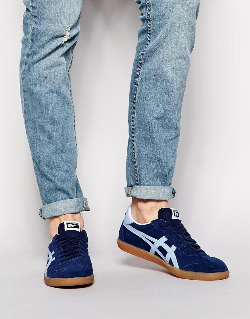 newest 21b4d b8144 Men's Blue Tokuten Suede Sneakers
