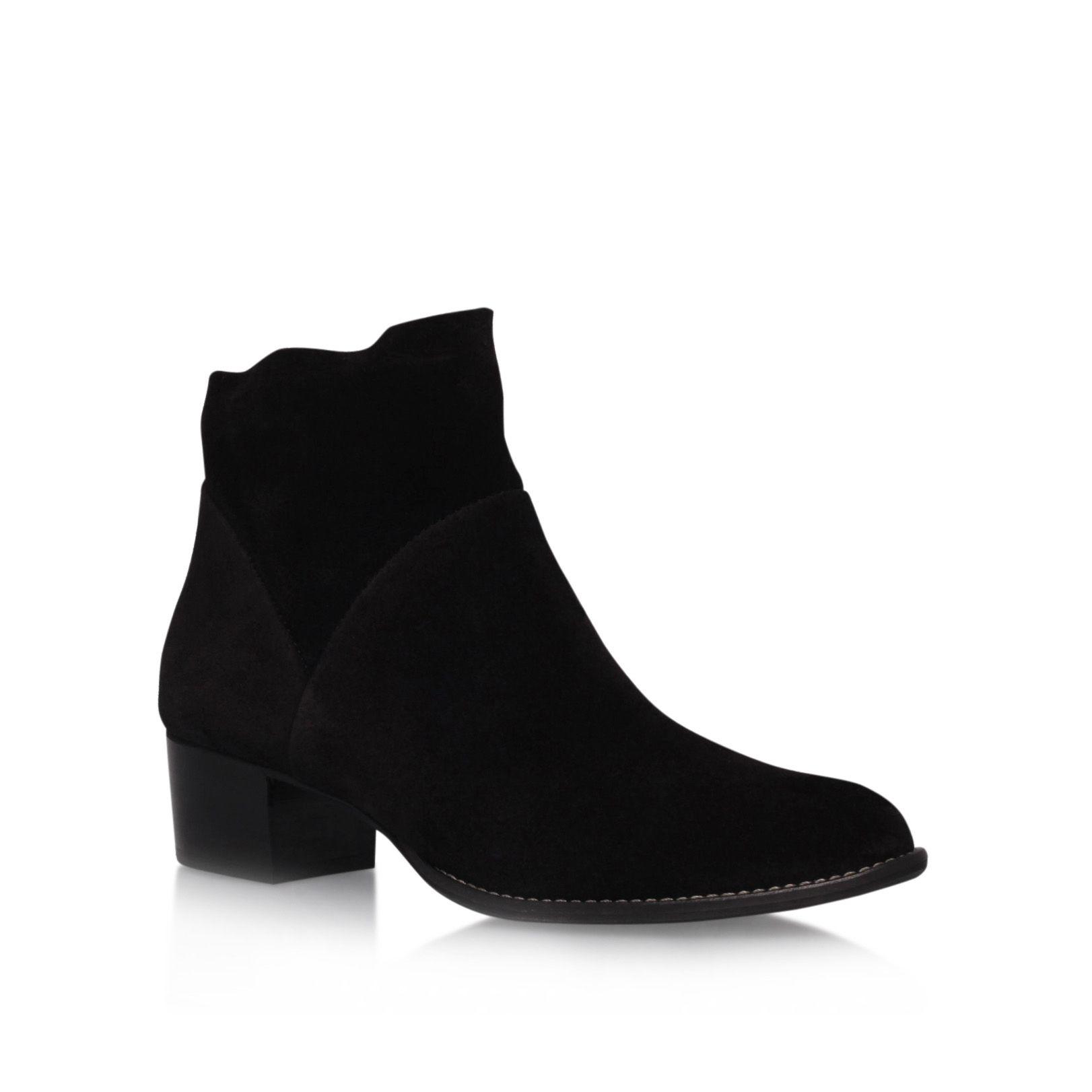 paul green hattie low heel ankle boots in black lyst