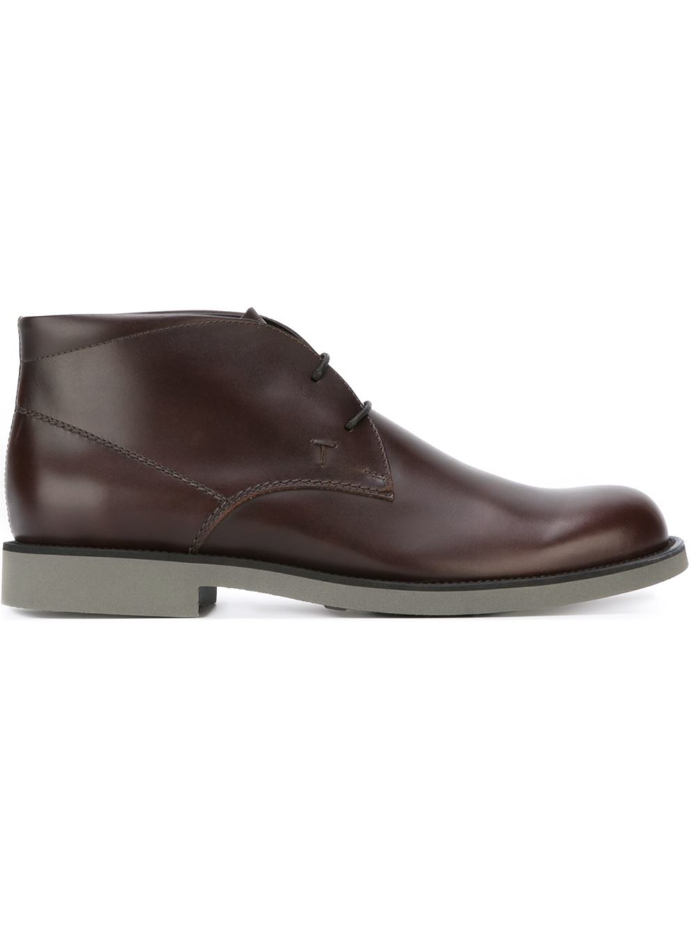tod s lace up ankle boots in brown for lyst