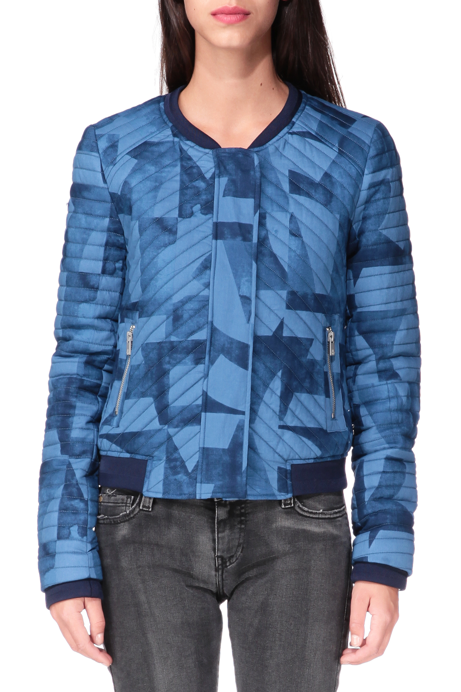 maison scotch jacket in blue save 16 lyst. Black Bedroom Furniture Sets. Home Design Ideas