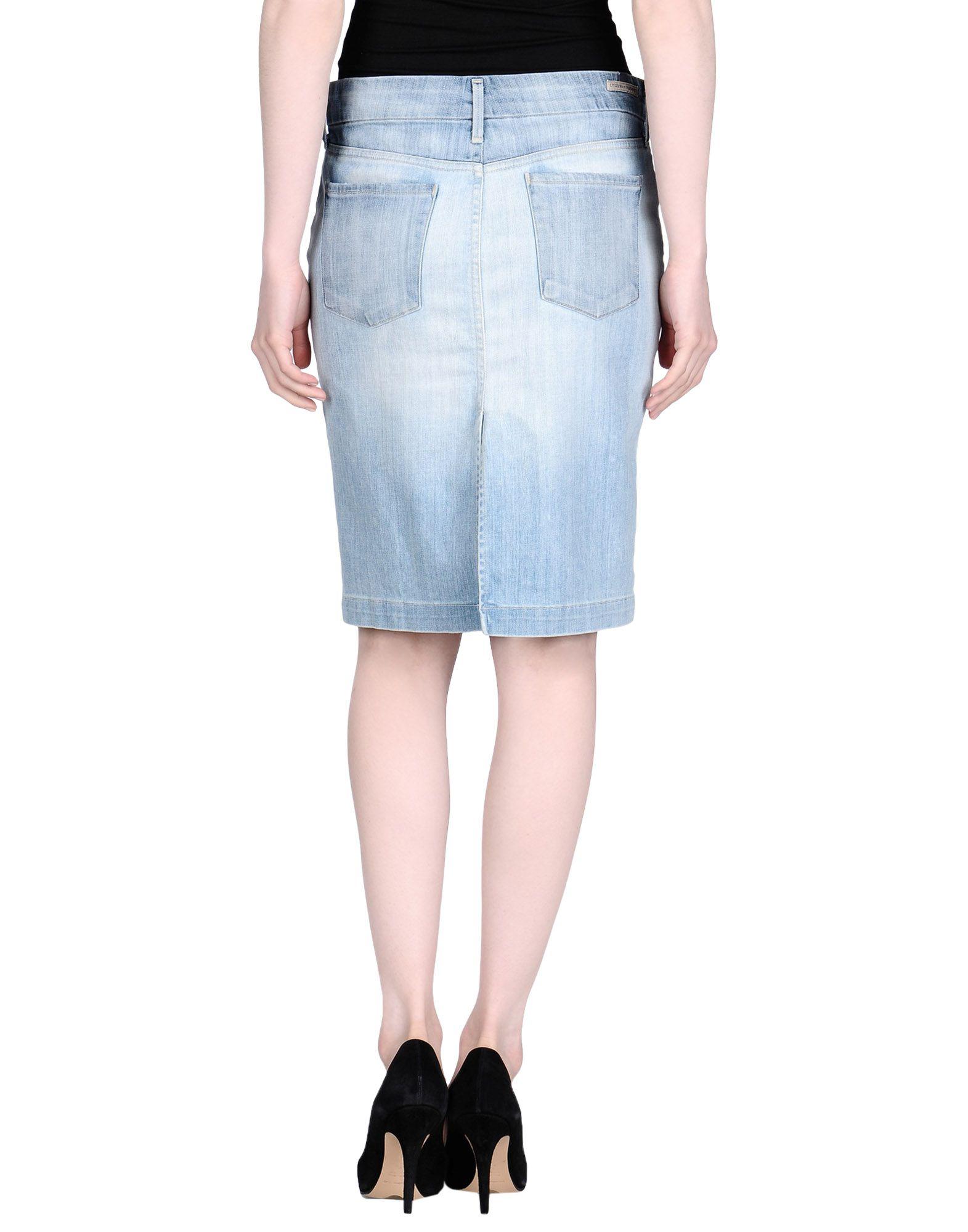 citizens of humanity denim skirt in blue lyst