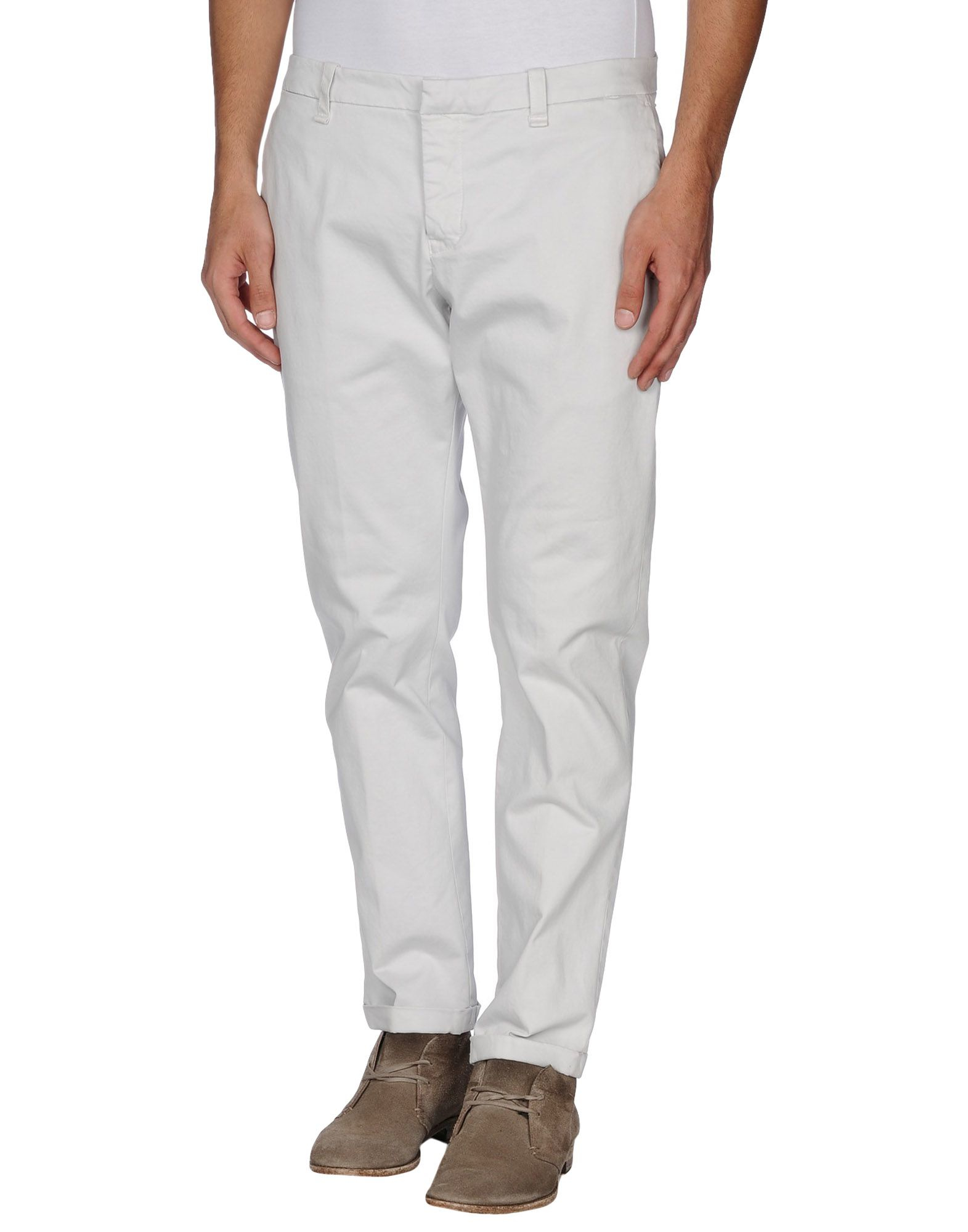 Dondup Cotton Casual Trouser in Light Grey (Grey) for Men