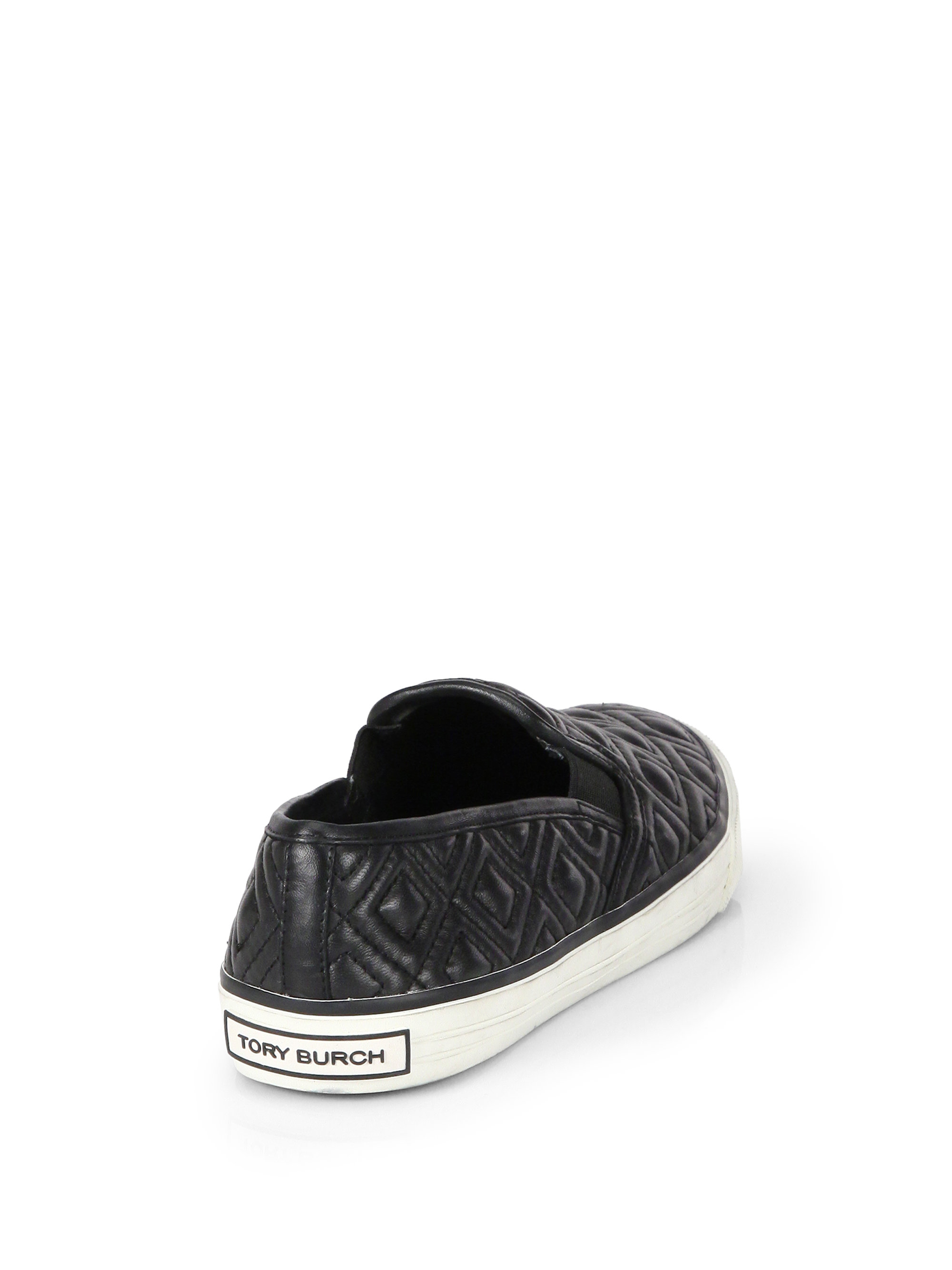 99967d27f99e Lyst - Tory Burch Jesse Quilted Leather Sneakers in Black