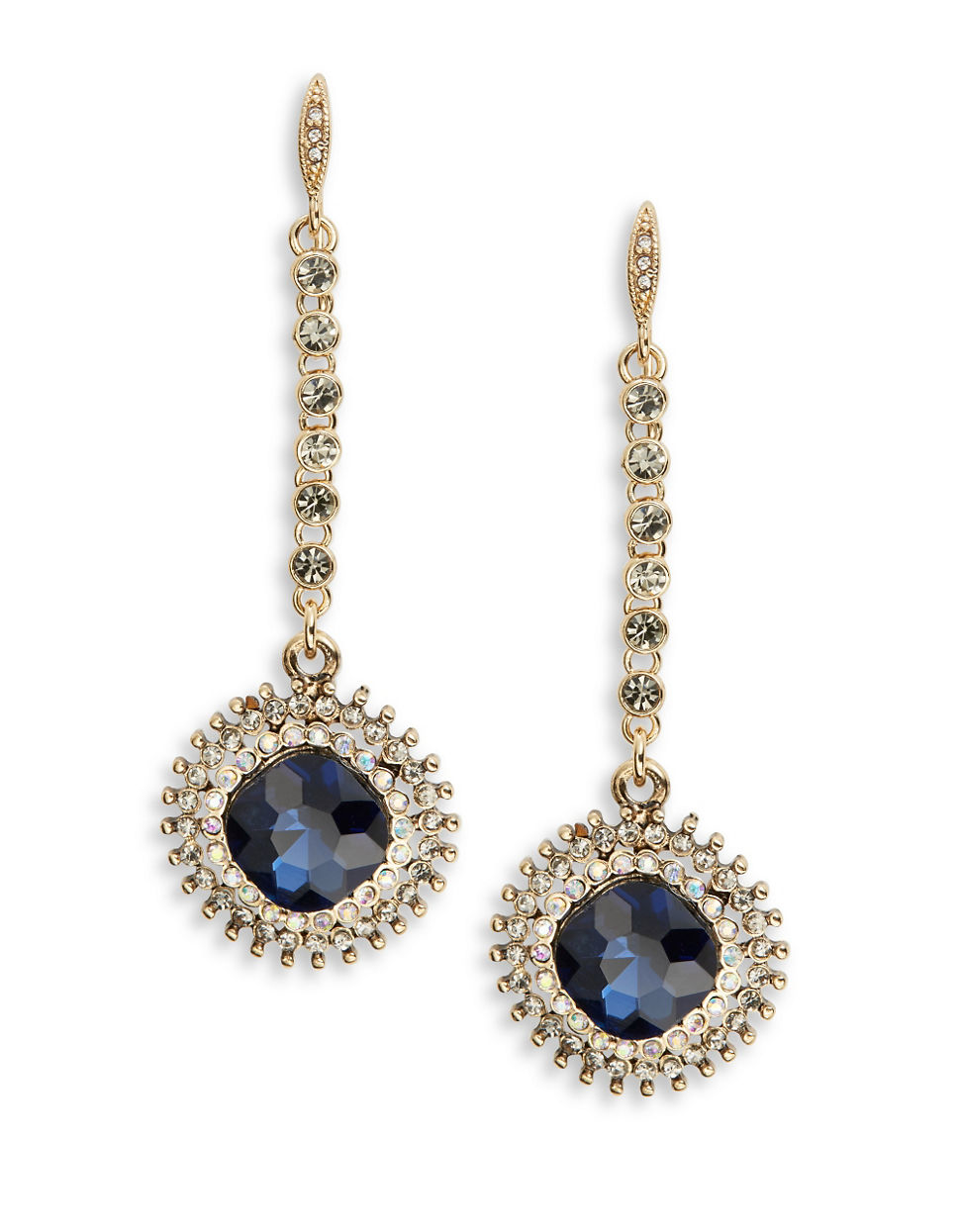 allen jewelry abs by allen schwartz faceted drop earrings in blue 6427