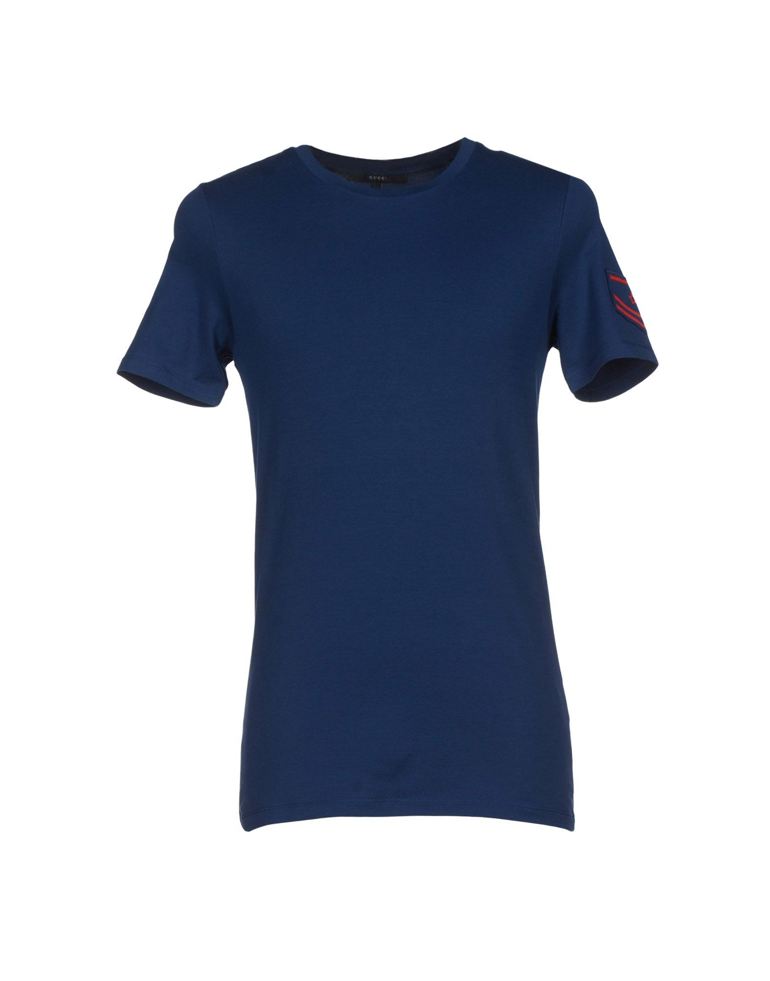 gucci t shirt in blue for men dark blue lyst. Black Bedroom Furniture Sets. Home Design Ideas