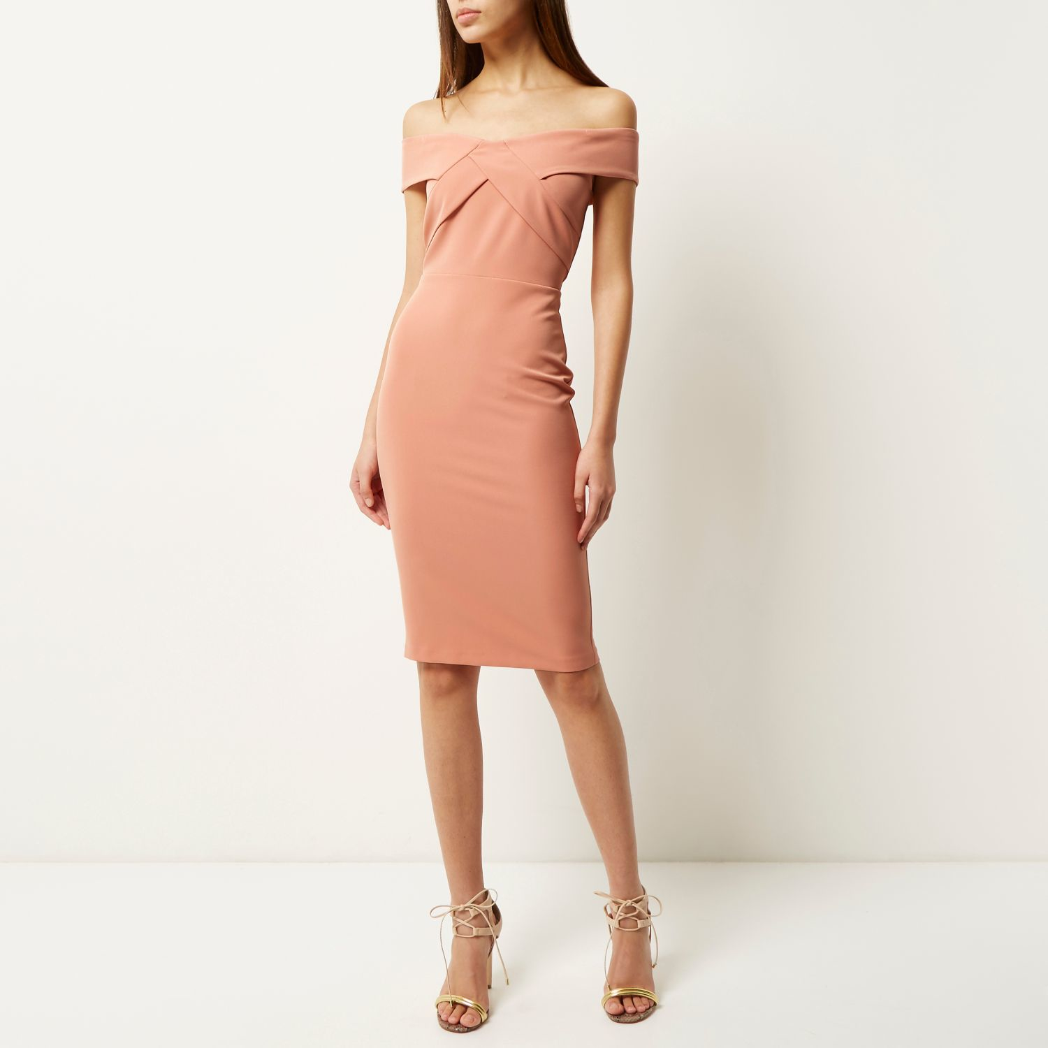 Pages black river bright pink island midi dress bodycon size chart and